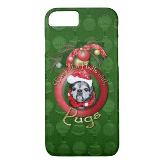 Christmas - Deck the Halls - Pugs - Angel iPhone 8/7 Case