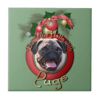Christmas - Deck the Halls - Pugs Ceramic Tiles