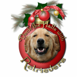 Christmas - Deck the Halls - Retrievers - Mickey Photo Sculpture Decoration