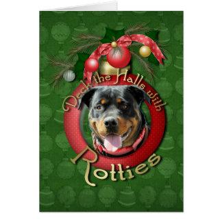 Christmas - Deck the Halls - Rotties - SambaParTi Card