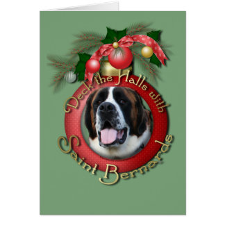 Christmas - Deck the Halls - Saint Bernards - Mae Card
