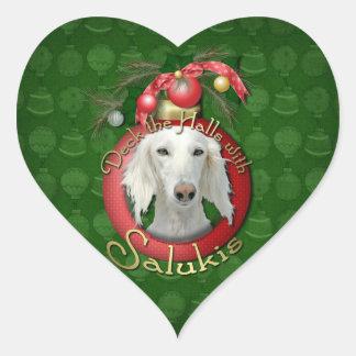 Christmas - Deck the Halls - Salukis Stickers