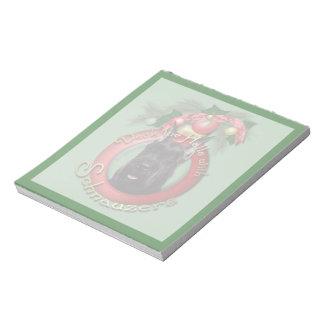 Christmas - Deck the Halls - Schnauzer Memo Notepad