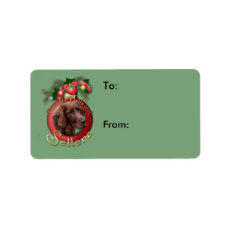 Christmas - Deck the Halls - Setters Address Label