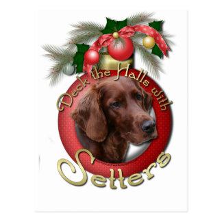 Christmas - Deck the Halls - Setters Postcard