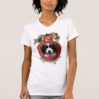 Christmas - Deck the Halls Springer Spaniel Baxter T-Shirt