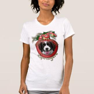 Christmas - Deck the Halls Springer Spaniel Baxter T Shirts