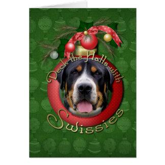 Christmas - Deck the Halls - Swissies Card