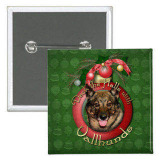Christmas - Deck the Halls - Vallhunds Button