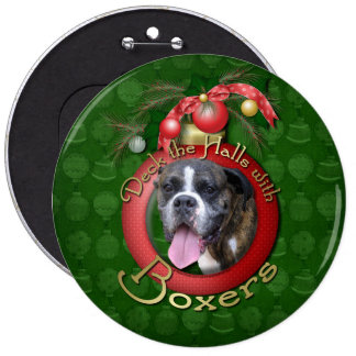 Christmas - Deck the Halls with Boxers Button