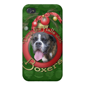 Christmas - Deck the Halls with Boxers iPhone 4 Cases