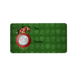 Christmas - Deck the Halls With Doggies Address Label