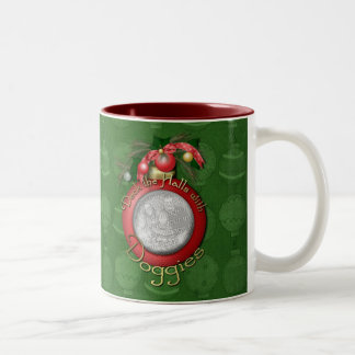 Christmas - Deck the Halls With Doggies Mug