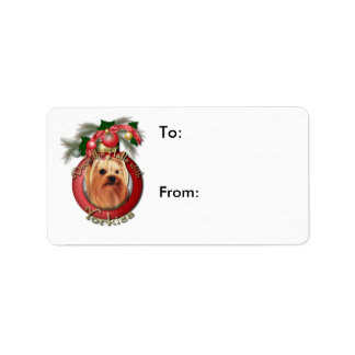 Christmas - Deck the Halls - Yorkies Address Label