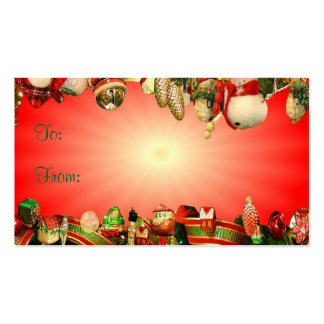 Christmas Deco Gift Tag Business Cards