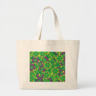 Christmas decor - green large tote bag