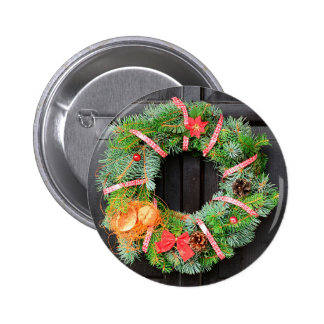 Christmas decoration 6 cm round badge