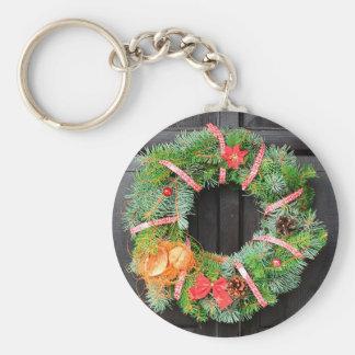 Christmas decoration basic round button key ring