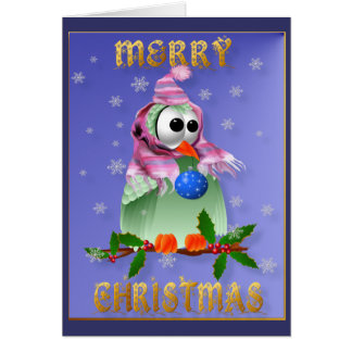 Christmas Decoration Bird Card