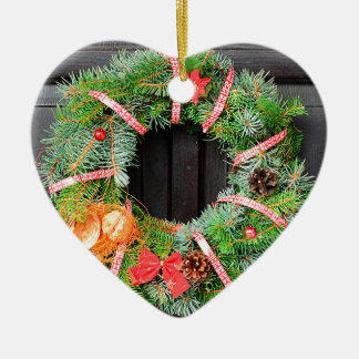 Christmas decoration ceramic heart decoration