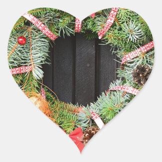 Christmas decoration heart sticker