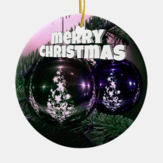 Christmas decoration round ceramic decoration
