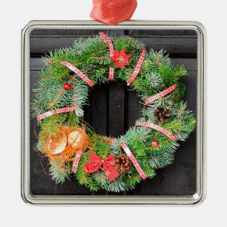 Christmas decoration Silver-Colored square decoration