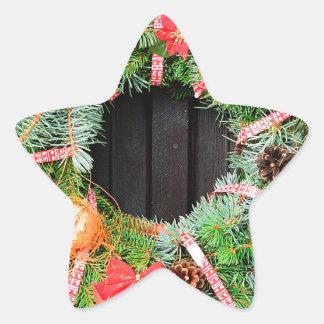 Christmas decoration star sticker