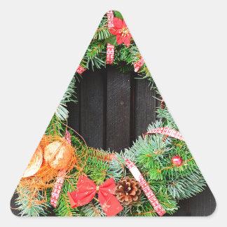 Christmas decoration triangle sticker