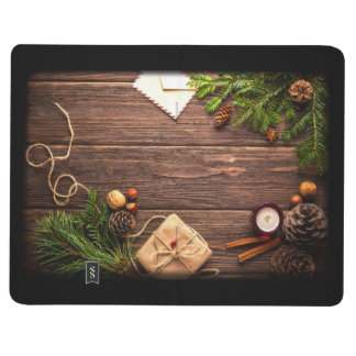 Christmas Decoration with Barn Wood and Pine Journal