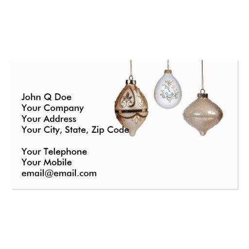 Christmas Decorations Business Card