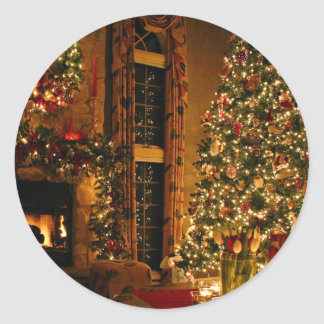 Christmas decorations - christmas tree classic round sticker