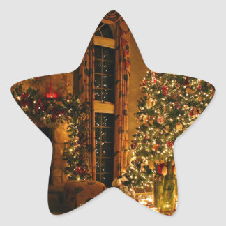 Christmas decorations - christmas tree star sticker