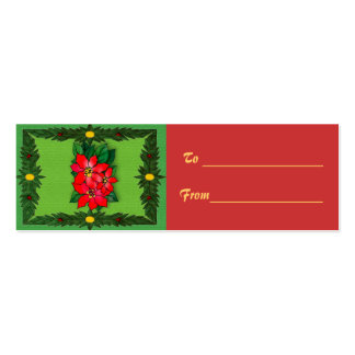 Christmas Decorations Gift Tag Pack Of Skinny Business Cards
