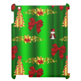 Christmas Decorations on Green Cover For The iPad 2 3 4