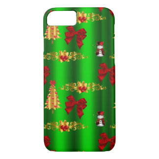 Christmas Decorations on Green iPhone 8/7 Case