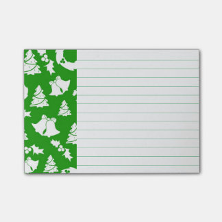 Christmas Decorations on Green Post-it Notes