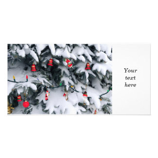Christmas decorations personalized photo card