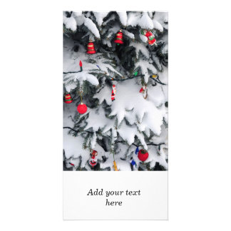 Christmas decorations photo card template