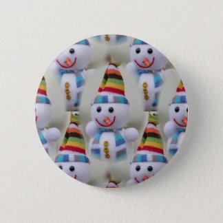 Christmas decorations snowmen 6 cm round badge