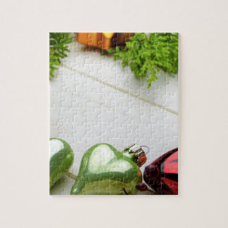 christmas decorations with a place for a name jigsaw puzzle