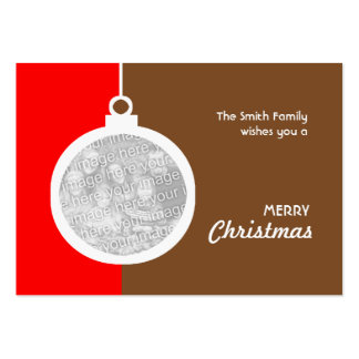 Christmas Decorative Ball Pack Of Chubby Business Cards
