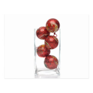 Christmas decorative balls in glass jar post cards