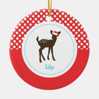 Christmas Deer Holiday Ornaments