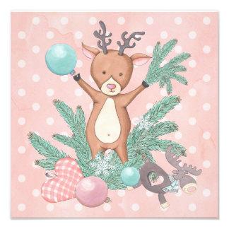 Christmas Deer Photo Print