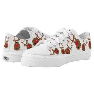 Christmas Deer Printed Shoes