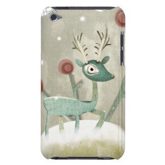 Christmas Deer Snowing Barely There iPod Covers