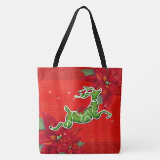 CHRISTMAS DEER TOTE CUTE CARTOON TOTE BAG