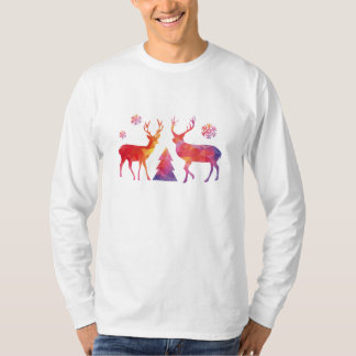 Christmas deer with abstract geometric pattern T-Shirt
