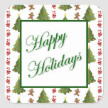 Christmas Delights Square Sticker